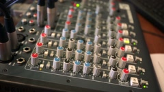 Control panel in a broadcasting studio. Stock Footage