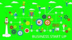 Entrepreneurship and Career Ladder. Business start up. Stock Footage