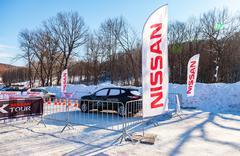 Cars event Nissan X-Tour at the ski resort Krasnaya Glinka in Samara, Russia Stock Photos