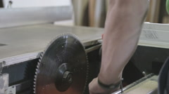 Circles cutting blade care Stock Footage