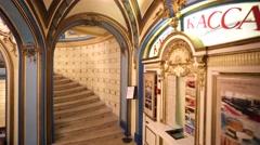 Interior of famous Sandunovskie Baths. Stock Footage