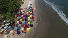 Juquehy Beach, Sao Paulo, Brazil Stock Footage
