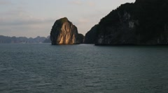 Halong Bay Time Lapse from a Boat Stock Footage