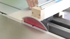 Cutting Board Using Electric Saw Including Audio - stock footage