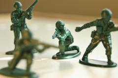 Toy Army Man - stock photo
