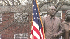 MLK STATUE PAN RIGHT Stock Footage