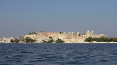 City palace in Udaipur. India, Rajasthan. Stock Footage