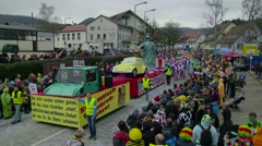 Wagon In German Carnival Procession - stock footage