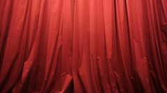 Opening red curtain in a theater Stock Footage