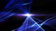 High Energy Glowing Blue & Purple Light Rays or Laser Beams - stock footage