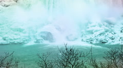 Niagara falls base enhanced colors Stock Footage