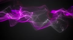 Fast Moving Pink, Purple & White Energy Wave Patterns - stock footage