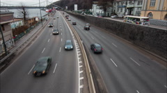 4k Time Lapse highway, road, cars, Traffic - stock footage