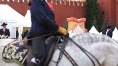 Spanish Royal Andalusia riders perform Stock Footage