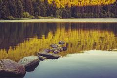 Tranquility over lake - stock photo