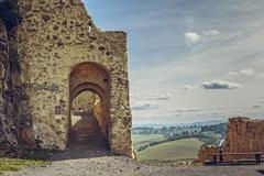 Rupea citadel fortified walls Stock Photos