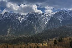 Snowy Piatra Craiului mountains - stock photo