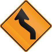 Stock Illustration of Temporary road control version - Double curve
