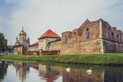 Fagaras fortress, Fagaras, Romania Stock Photos