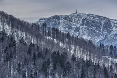 Bleak wintry mountain landscape Stock Photos