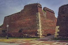Fortification walls ruins Stock Photos