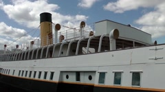 Steam Ship SS Nomadic Belfast close up - stock footage