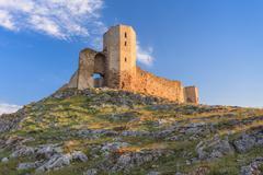 antique fortress ruins. Enisala, Romania - stock photo