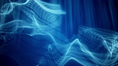 Fast Moving Glowing Blue Bokeh Particle Waves - stock footage