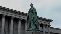 Bronze statue of Queen Victoria Stock Footage