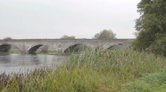 Old Bridge Over River Dee Near Corwen North Wales Stock Footage