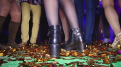 Beautiful dancing feet on gladness revelry party. Stock Footage