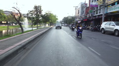 Slow motion video of astreet traffic in Chiang Mai. Stock Footage