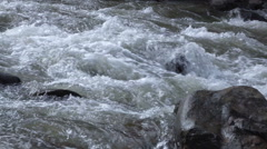 Slow motion video of a Mountain River Stock Footage