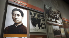 Inside the Mao Zedong Memorial Museum in his birthplace Shaoshan Stock Footage