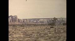 Vintage 16mm film, 1940, Arizona, desert and Tucson sign Stock Footage