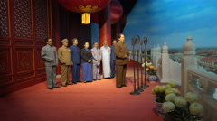 Declaration of People's Republic of China, Tiananmen Square, statues museum Stock Footage