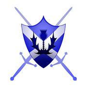 Scottish heraldry symbol Stock Illustration