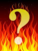 Burning question Stock Illustration