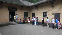 Tour groups visit the home of Mao Zedong in Shaoshan, central China Stock Footage
