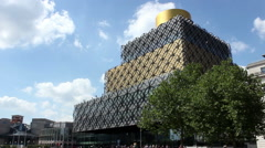 Modern Building - Birmingham Central Library - time lapse Stock Footage