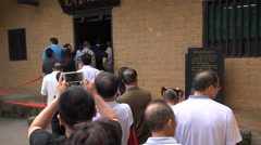 People queue to visit Mao Zedong's home in Shaoshan, central China Stock Footage
