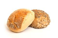 duo of little bread - stock photo
