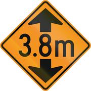 Temporary road control version - Height limit ahead - stock illustration