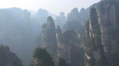 Avatar mountains in Zhangjiajie National Park in Hunan, China Stock Footage