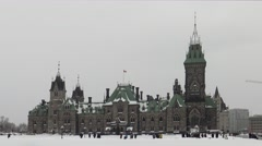 Canada's Parliament Buildings - East Block Stock Footage