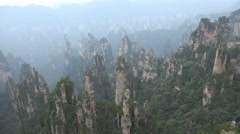 Beautiful landscape, avatar mountains in Zhangjiajie National Park in China - stock footage