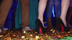 Beautiful dancing feet on gladness revelry party. - stock footage