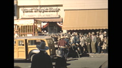 Vintage 16mm film, 1946, Arizona, go western or go to jail, jail break shoot out Stock Footage