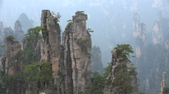 Beautiful mountain range, natural landscape, National park in China - stock footage