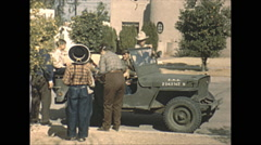 Vintage 16mm film, 1946, Arizona, army jeep and GPA amphibious jeep - stock footage